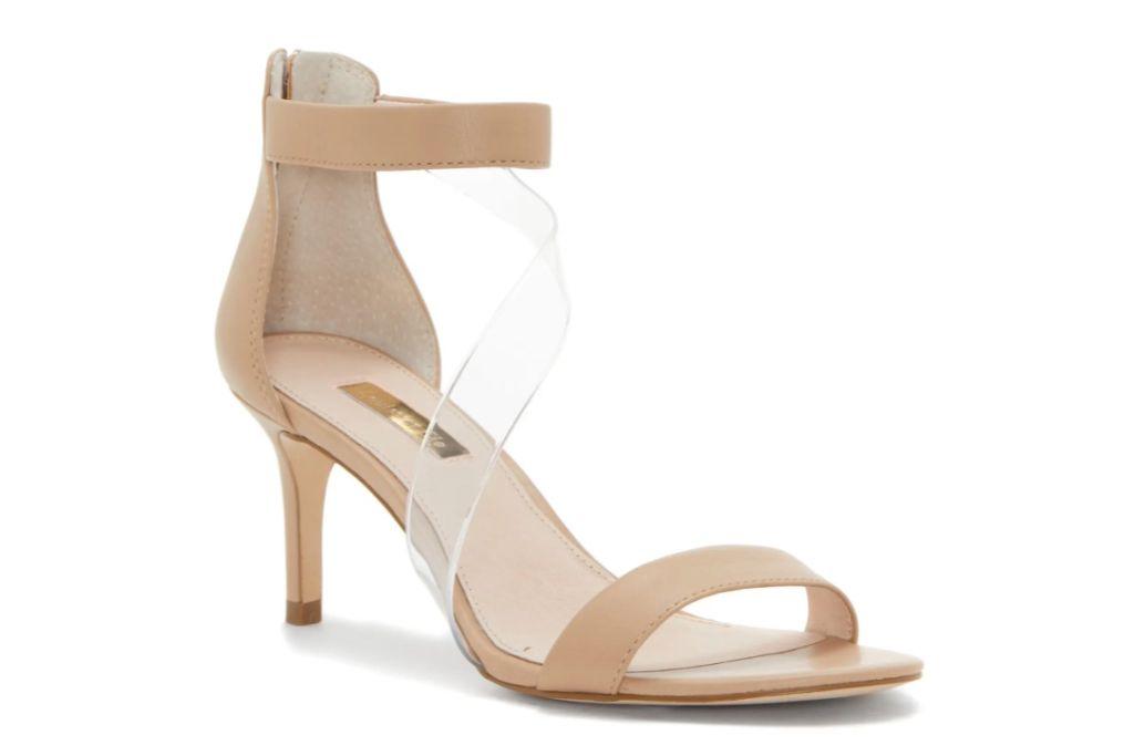 LOUISE ET CIE Hallia Clear Crossover Strap Sandal