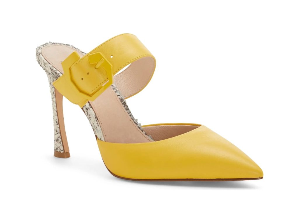 louise et cie, talila pump, yellow heels
