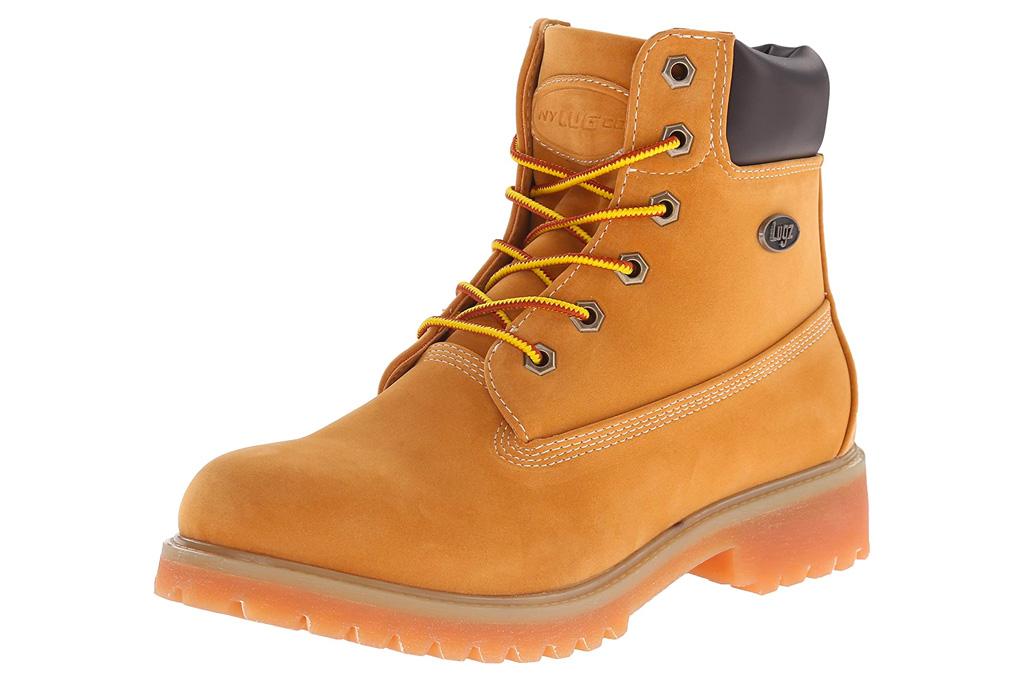 work boots, tan, lugz