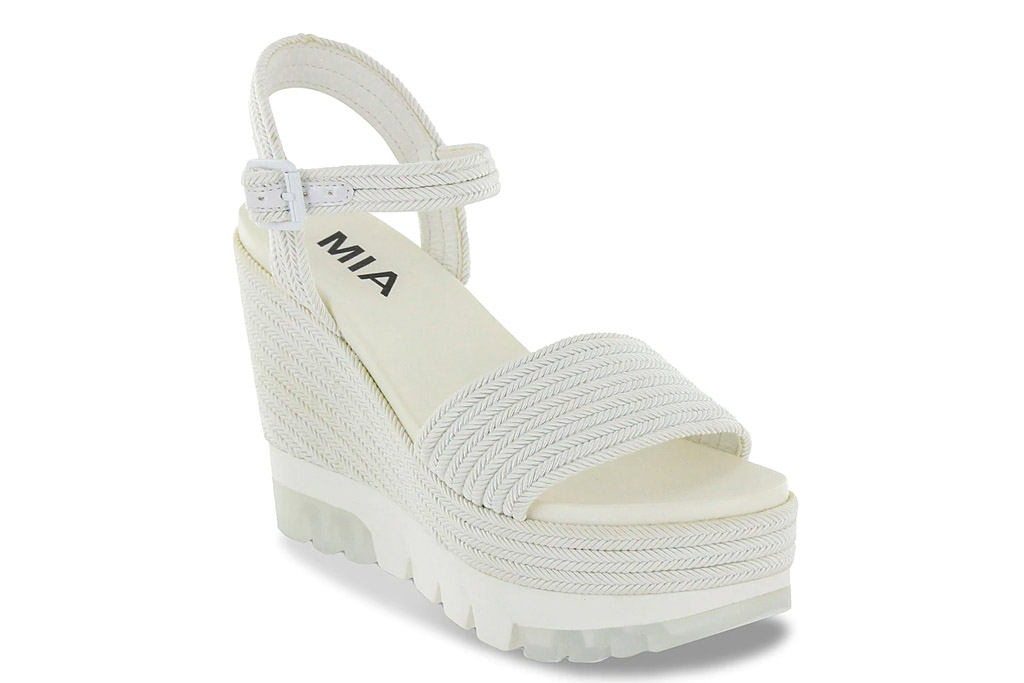 platforms, wedges, white, mia