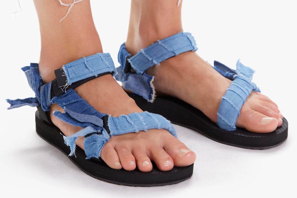 jean sandals, denim, mother, arizona