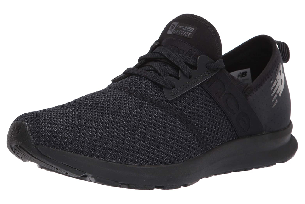 black sneakers, running shoes, new balance