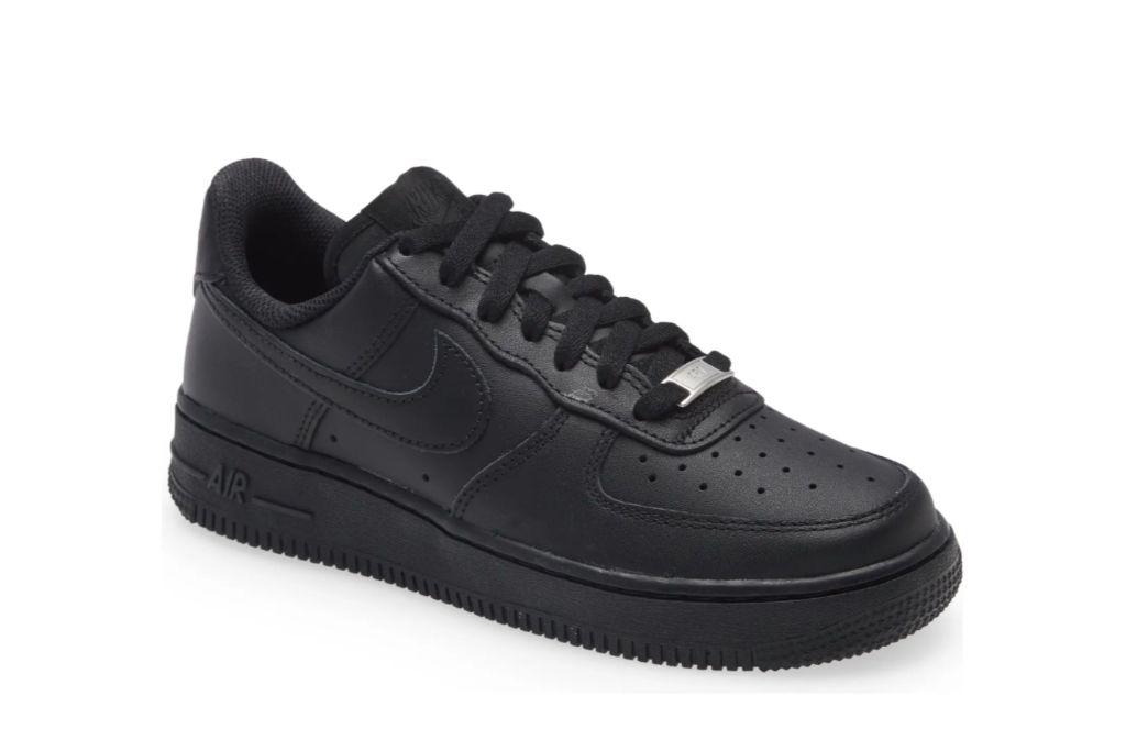 nike, air force 1 sneaker black
