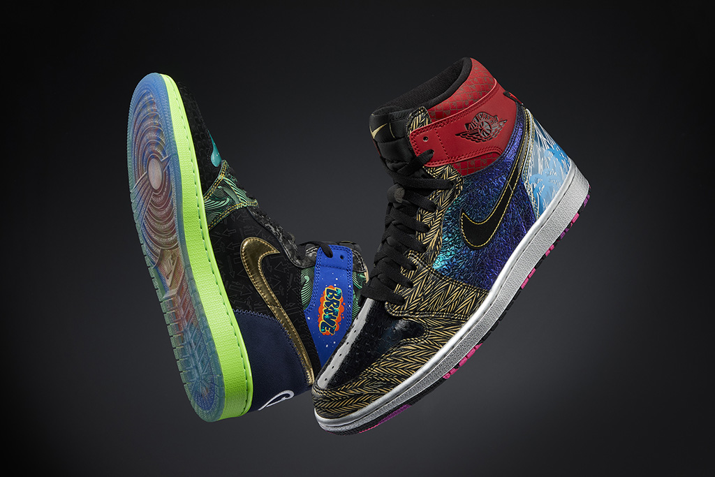 "Nike Doernbecher Freestyle ""What The"" Air Jordan 1."
