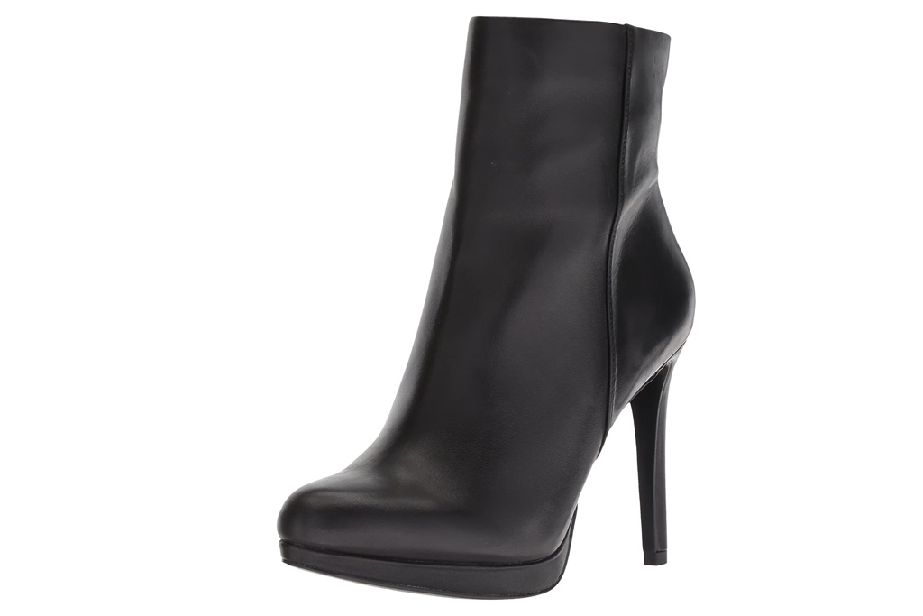 black boots, stilettos, nine west