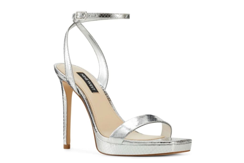 nine west, zadie platform sandal, metallic heel