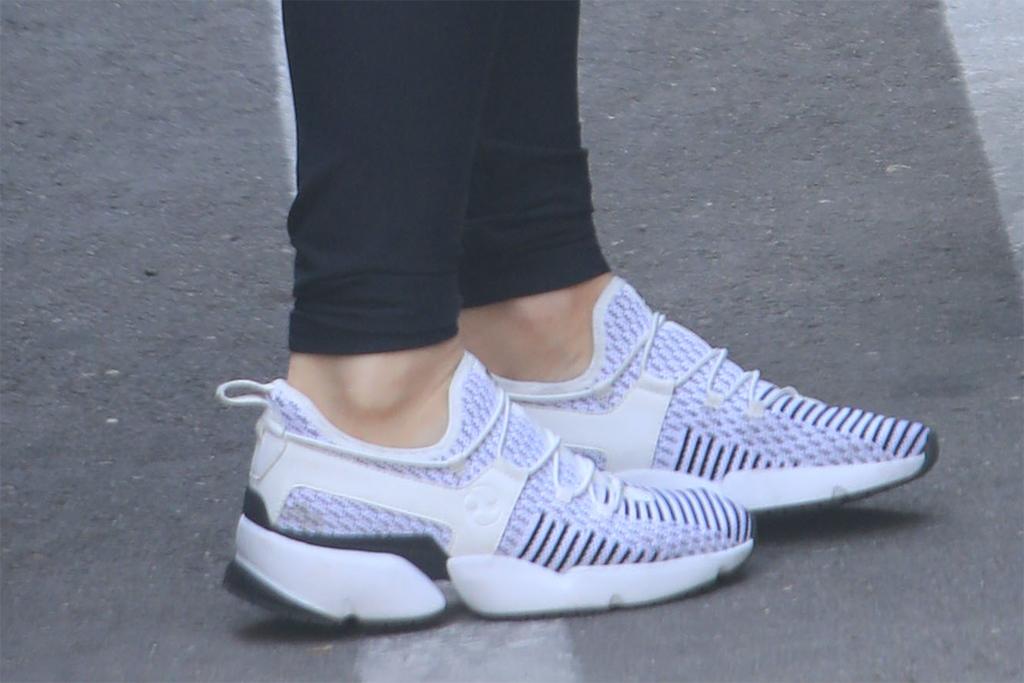 olivia munn sneakers, mesh laceless sneakers, mesh sneakers