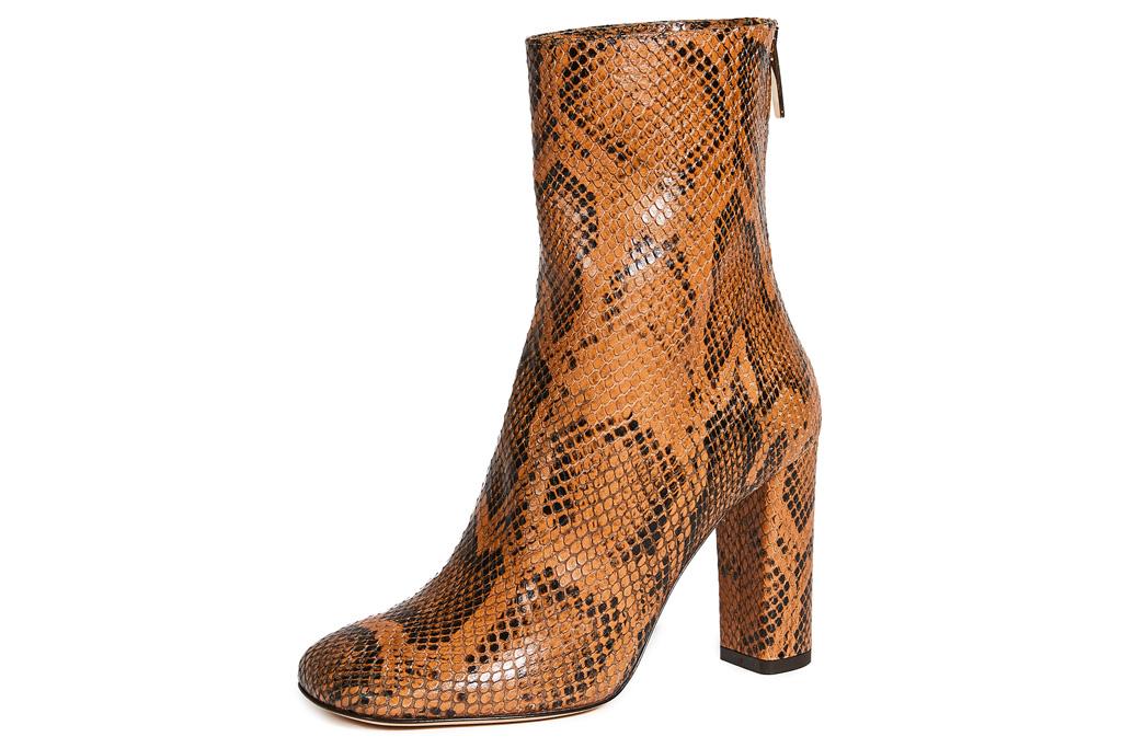 snakeskin boots, square toe, paris texas