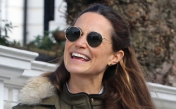pippa middleton, jeans, sneakers, jacket, army