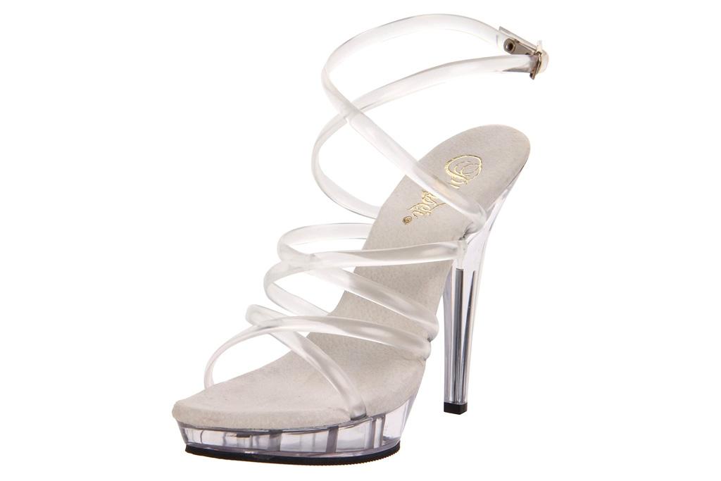 Pleaser, clear sandals, platform