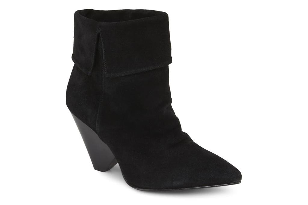 black boots, cone heel, rebel wilson
