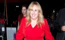 Rebel Wilson, red dress, west hollywood,