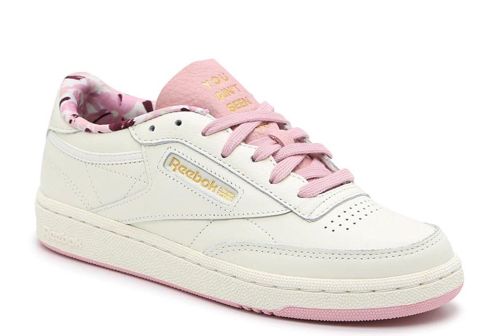 reebok, club c sneaker, pink sneaker