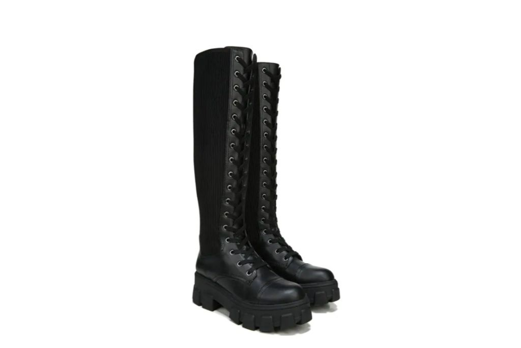 circus by sam edelman, combat boot, black boot, famous footwear