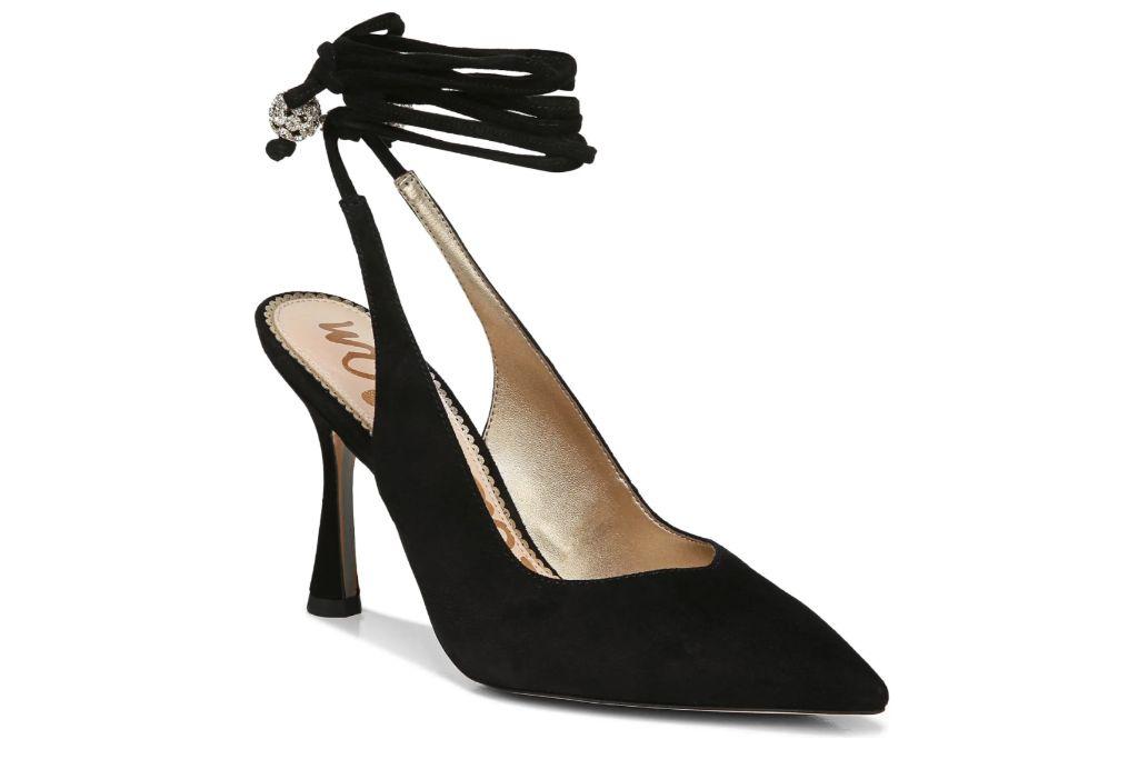 sam edelman, harvie pointed toe pump, black heels