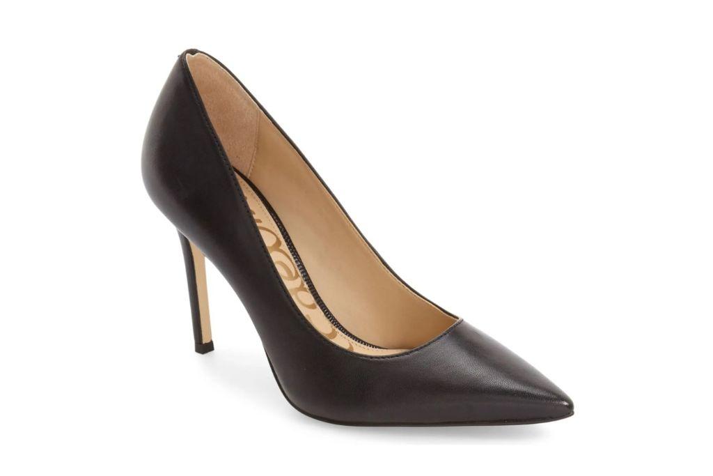sam edelman, hazel pointed toe pump, black heel