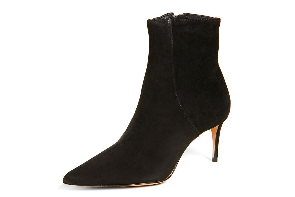black boots, sock style boots, schutz