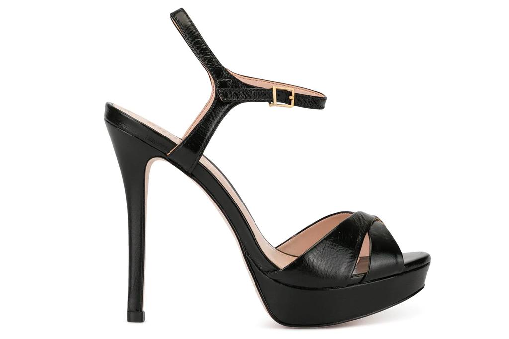 black sandals, platforms, schutz
