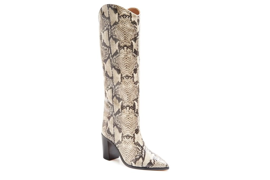 schutz, snakeskin, knee high boot, nordstrom