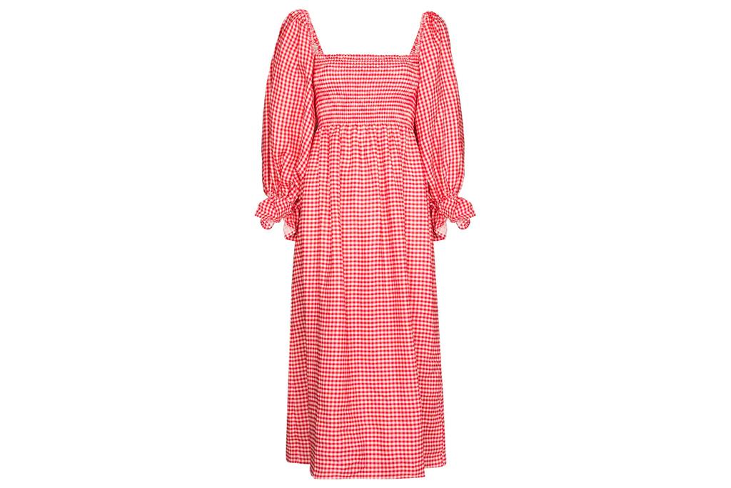 red dress, checkered, sleeper
