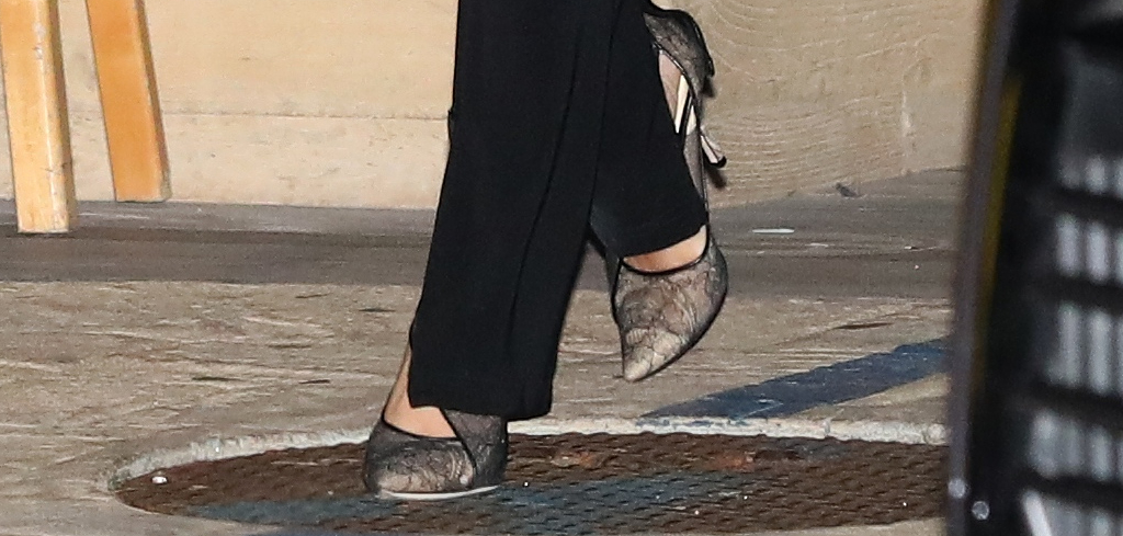 sofia richie, lace heels, nobu malibu