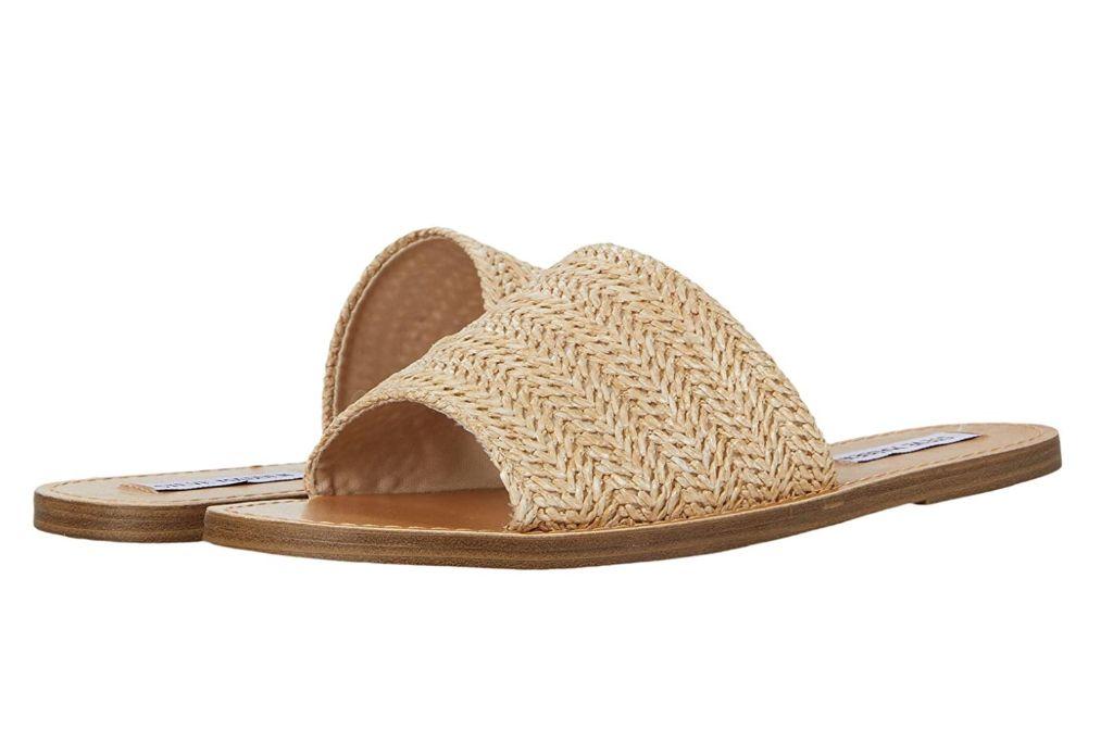 steve madden, grace slide sandal, straw sandal