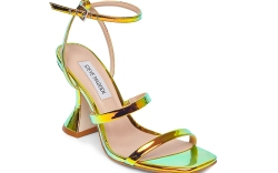 iridescent heels, mules, steve madden