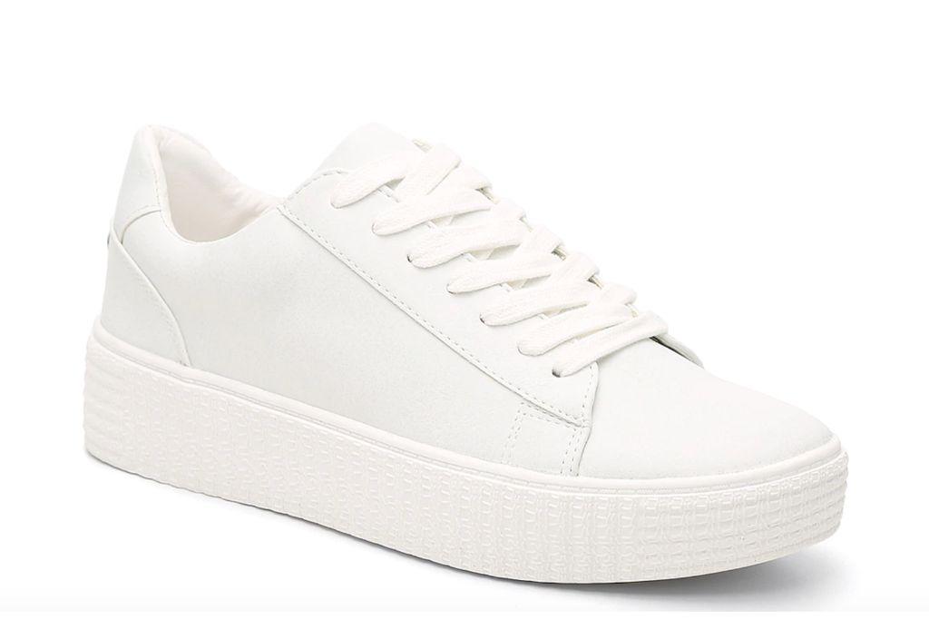 steve madden hanly platform sneaker, white sneaker