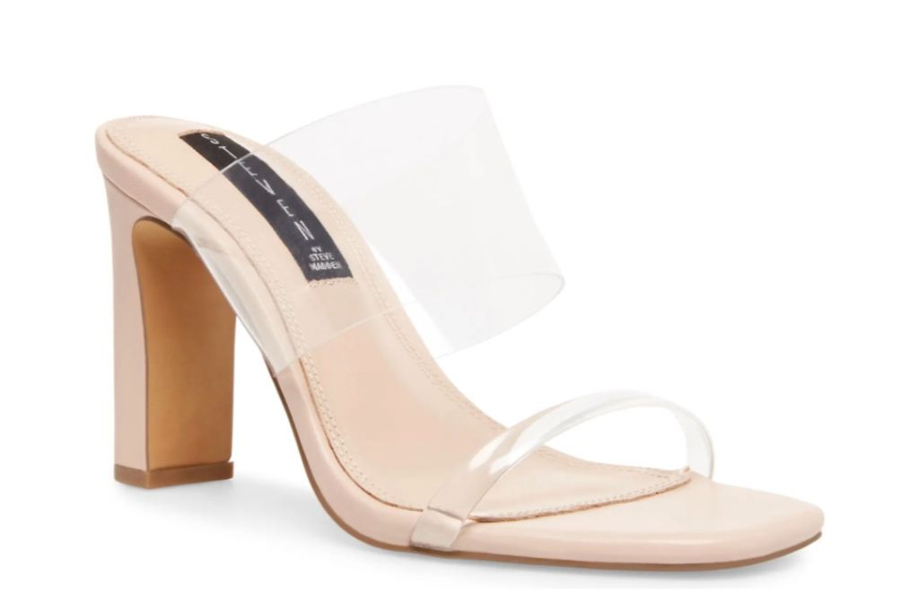 steven new york jule transparent strap sandal