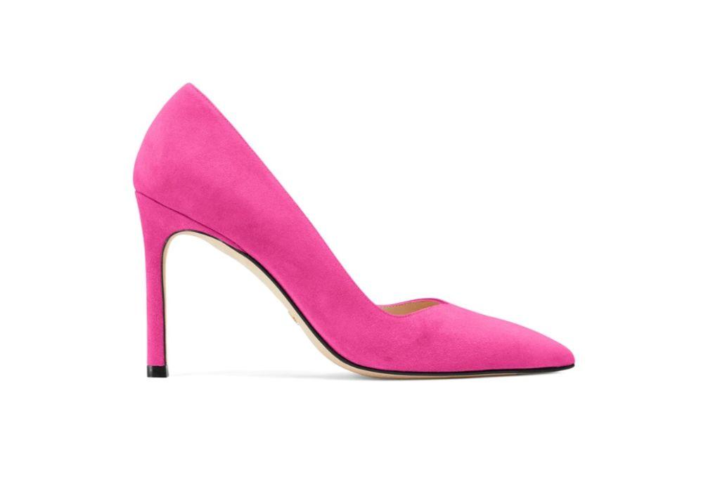 stuart weitzman, the anny 95 pump, pink heel