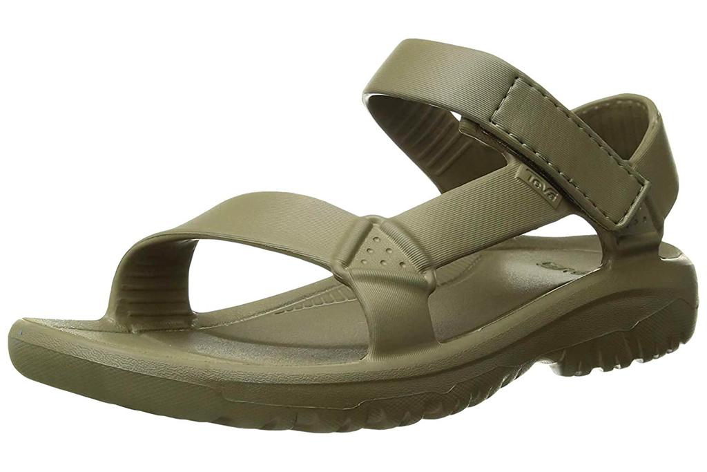 green sandals, teva