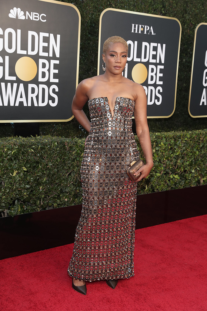 78th ANNUAL GOLDEN GLOBE AWARDS -- Pictured: Tiffany Haddish arrives to the 78th Annual Golden Globe Awards held at the Beverly Hilton Hotel on February 28, 2021. -- (Photo by: Todd Williamson/NBC)