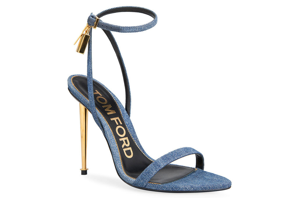Tom Ford Denim, Lock & Key sandals