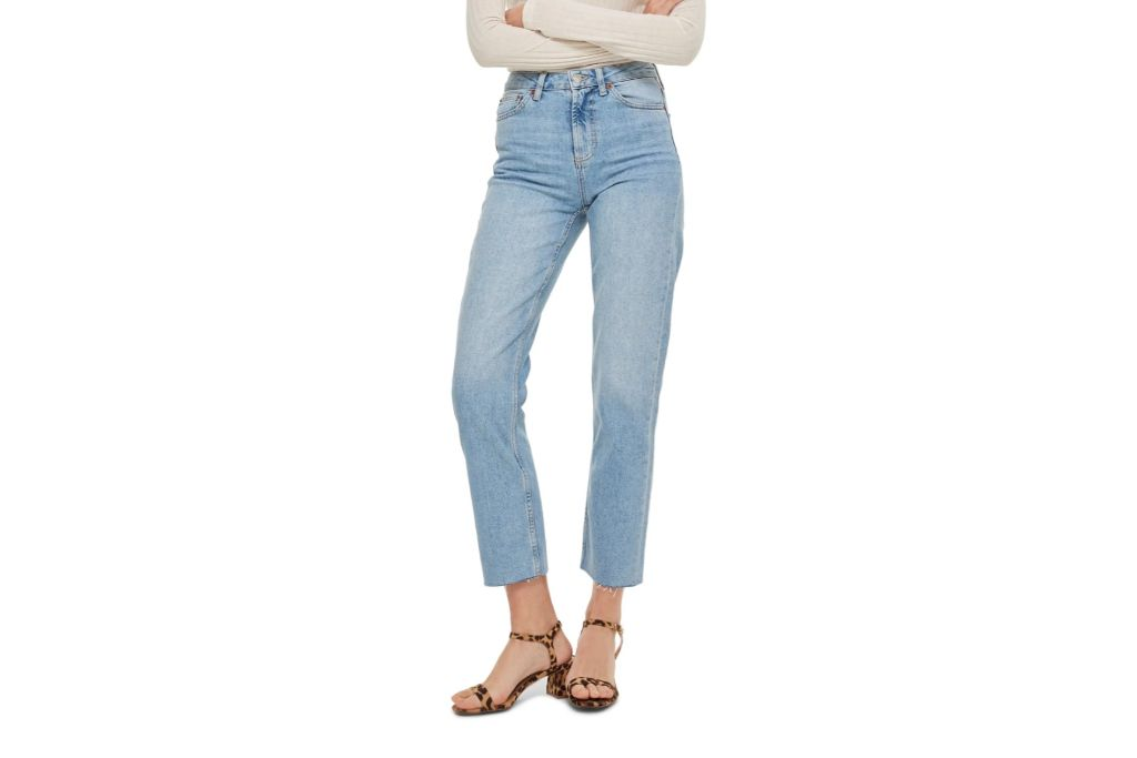 topshop, straight leg jeans