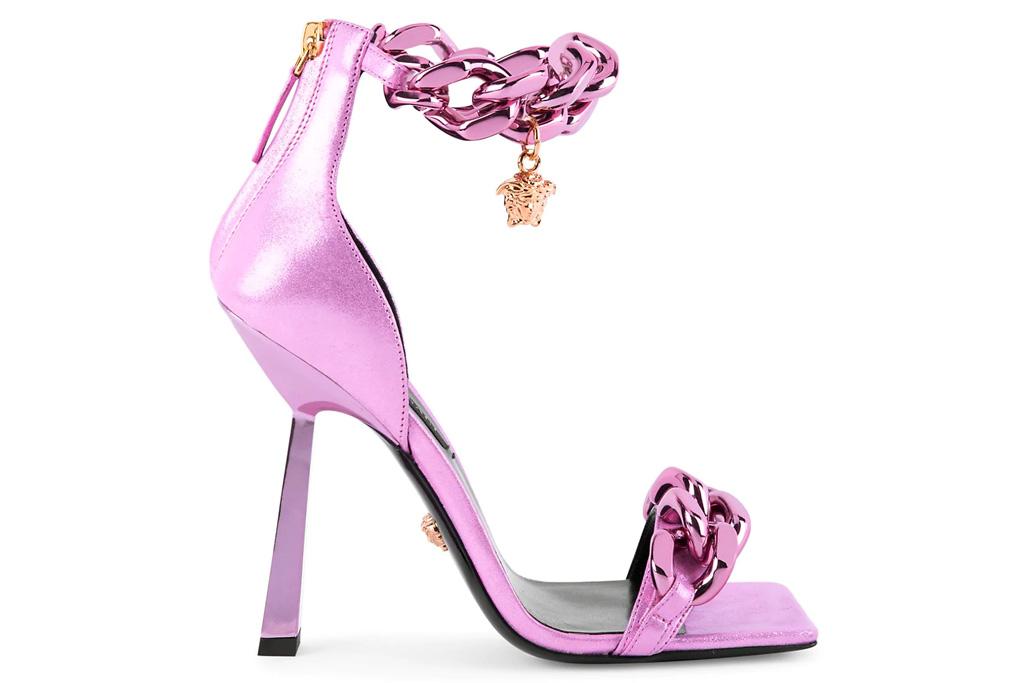 Versace Medusa Chain sandals, pink