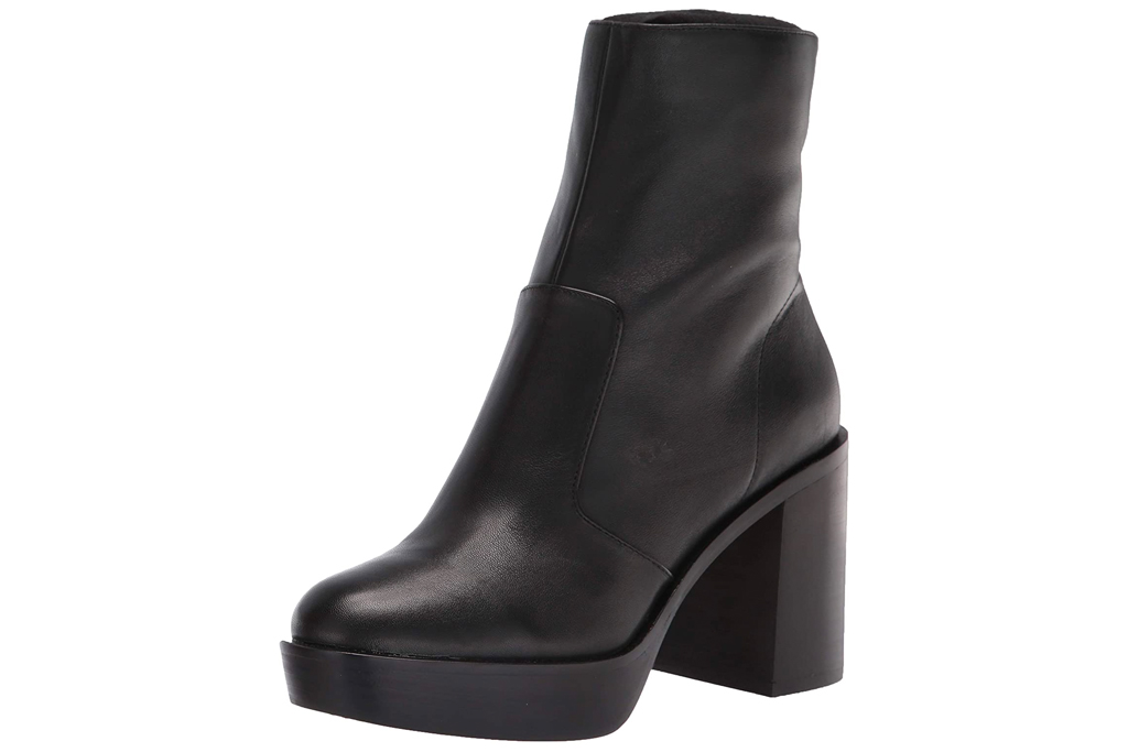 black boots, heel, platform, leather, vince camuto