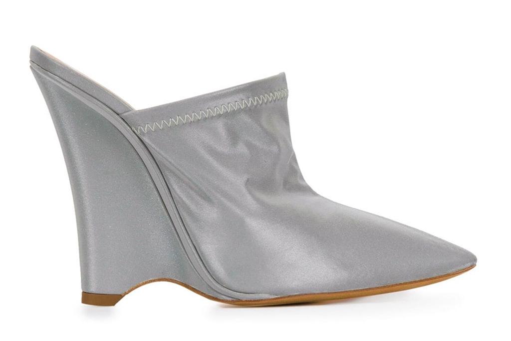 yeezy, wedges, reflective, heels