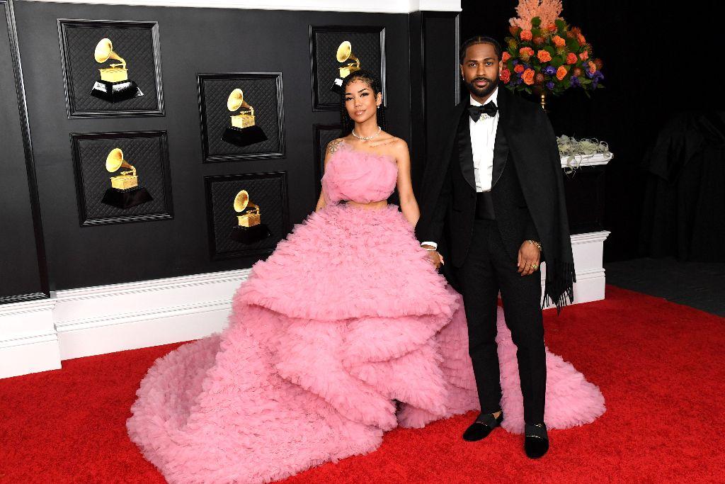 Jhené Aiko, Jhené Aiko pink gown, 2021 grammy red carpet arrivals