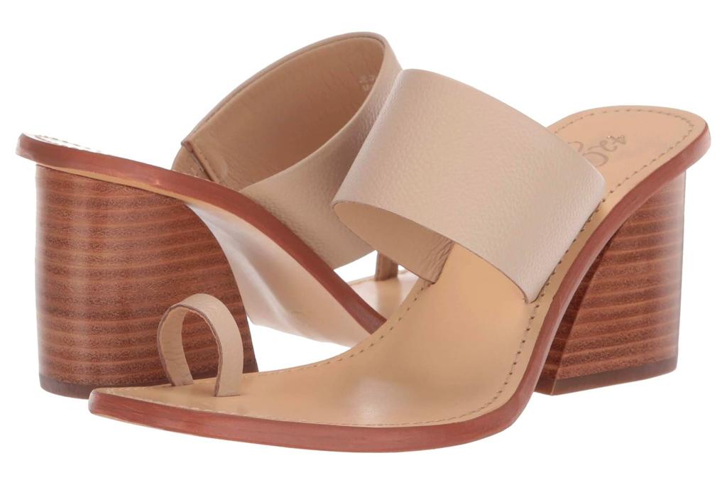 big toe sandals, loop toe, 42 gold