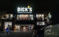 Customers walk into Dick's Sporting Goods