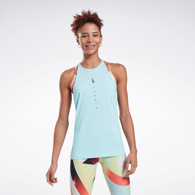 Reebok ActivChill Graphic Tank Top, reebok workout apparel