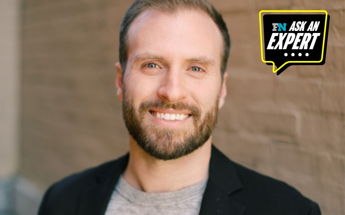 Headshot of Supplykick ceo chris palmer with Ask An Expert Logo