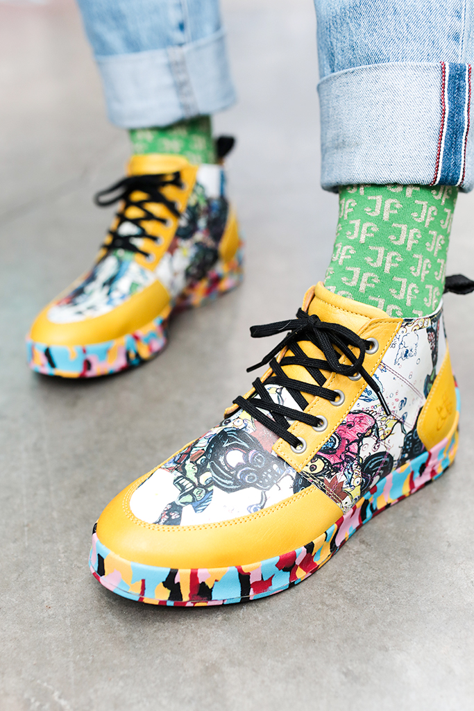 george clinton x john fluevog, george clinton sneaker, trippy sneakers