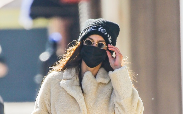 Irina Shayk was spotted wearing a Max Mara coat while taking a stroll in NYC