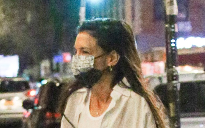 Katie Holmes and Emilio Vitolo Jr. were spotted taking a late night stroll in NYC