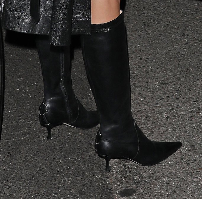 Kendall Jenner, knee high boots, justin bieber, album release party