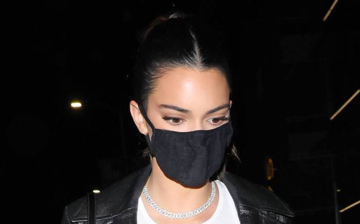 Kendall Jenner is seen attending Justin Bieber's album release party
