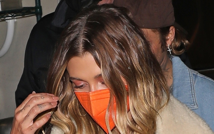 Justin Bieber and wife Hailey exit the Nice Guy after celebrating the his album release party