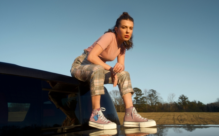 millie bobby brown, converse, collection