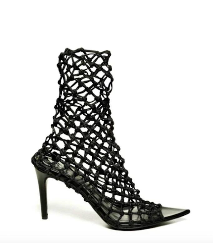 Monika chiang, fishnet heels